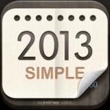卓上カレンダー2013:シンプルカレンダー