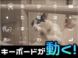『みんなの顔文字キーボード』背景に「動画」を設定可能に